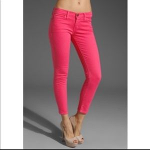 Current/Elliott The stiletto faded rose jeans